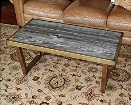 Amazon.com: The Barnwood Furniture Co. Authentic Barn Wood & Steel U