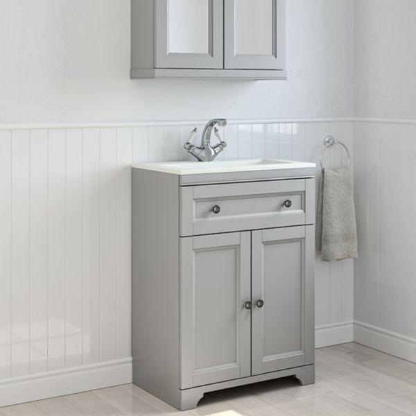 Chadleigh Freestanding Bathroom Furniture Mirrored Bathroom Cabinets