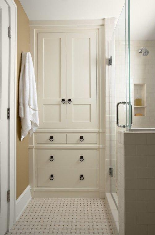 15 Traditional Tall Bathroom Cabinets Design   bathroom designs