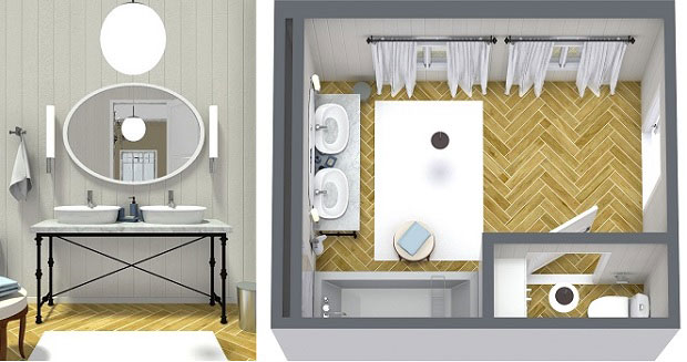 Plan Your Bathroom Design Ideas with RoomSketcher | RoomSketcher Blog