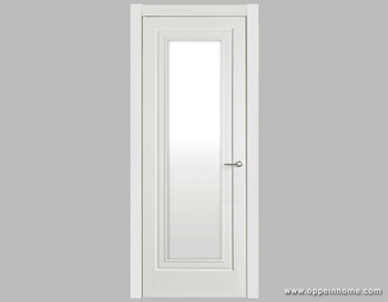 White Shatterproof Frosted Interior Glass Bathroom Door - Buy