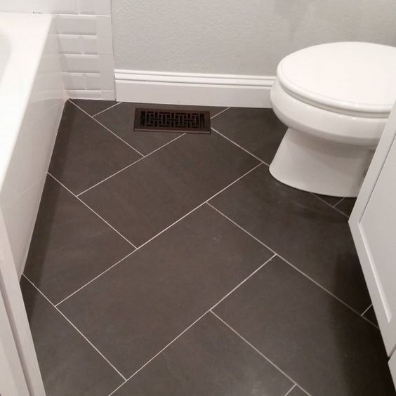 12x24 Tile Bathroom Floor. Could use same tile but different design