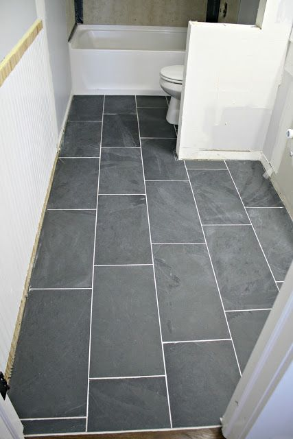 How to tile a bathroom floor (it's done!) | + DIY LIfe | Pinterest