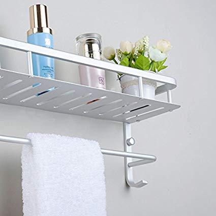 Amazon.com: Modern Aluminum Double Towel Bar, Wall Mount Bathroom