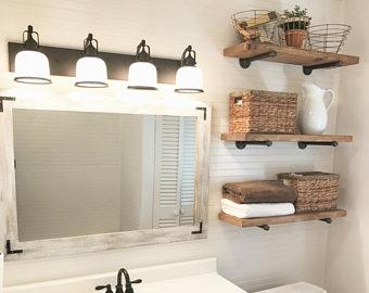 Bathroom wall shelf | Etsy