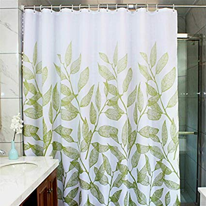 Amazon.com: MangGou Leaves Fabric Shower Curtain,Waterproof