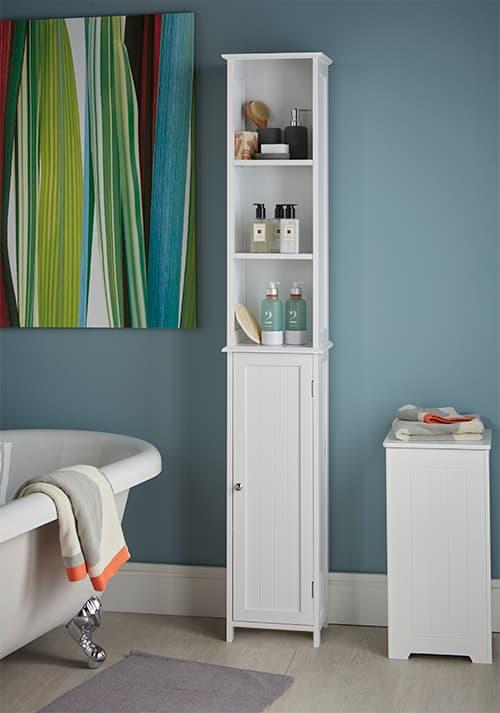 STORE | Slimline Tall Bathroom Storage Cabinet