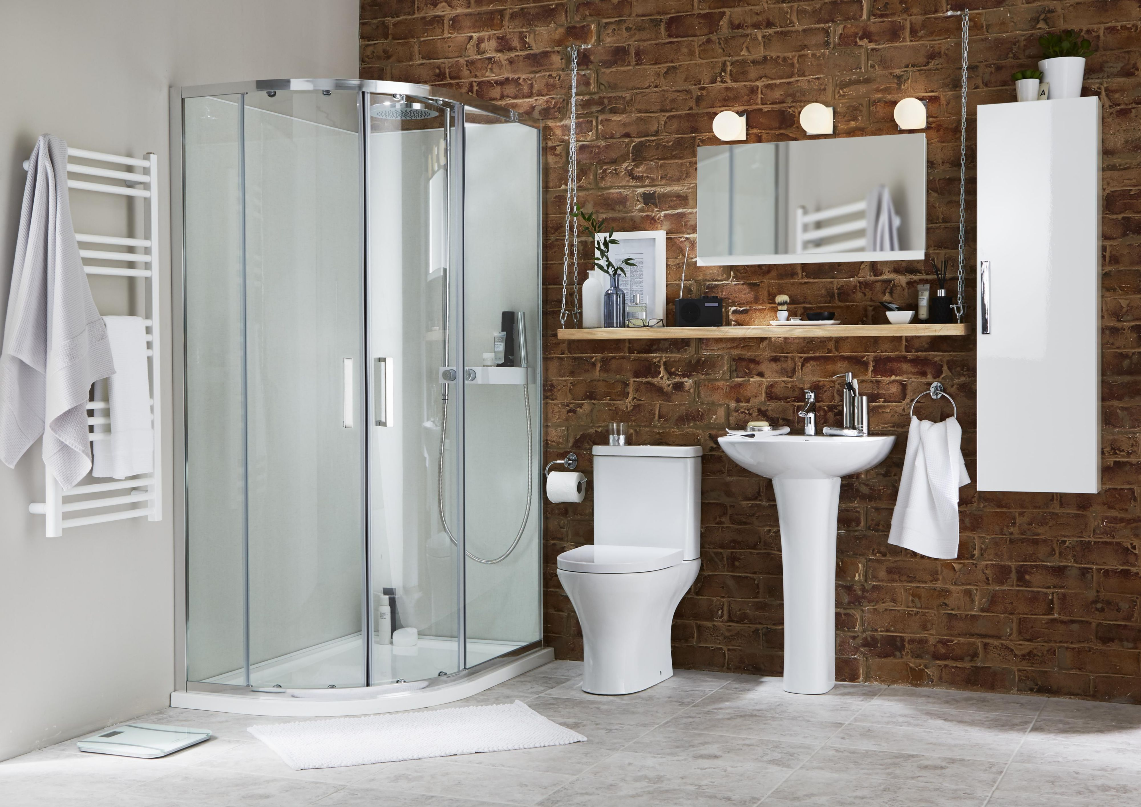 Varese Double door White Mirror cabinet | Departments | DIY at B&Q