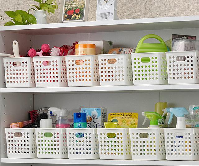 Inomata plastic storage basket storage box bathroom storage basket