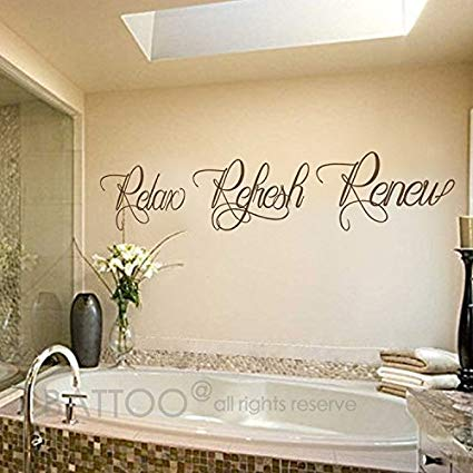 Amazon.com: BATTOO Bathroom wall art - Bathroom Wall Decal - Relax