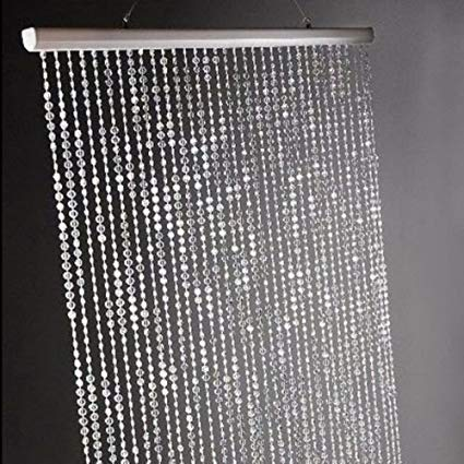 Amazon.com: Dpnamron 3 ft x 6 ft Iridescent Faux Crystal Beaded
