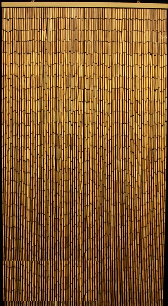 Plain Bamboo Beaded Curtain 90 Strands 35