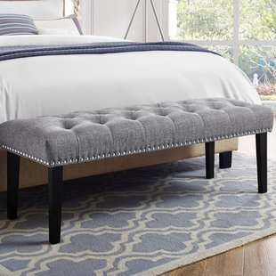 Grey Bedroom Benches You'll Love | Wayfair