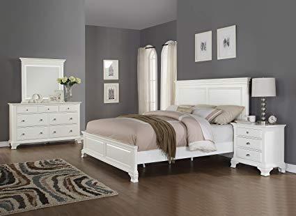 Amazon.com: Roundhill Furniture B012KDMN Laveno 012 Wood Bed Room