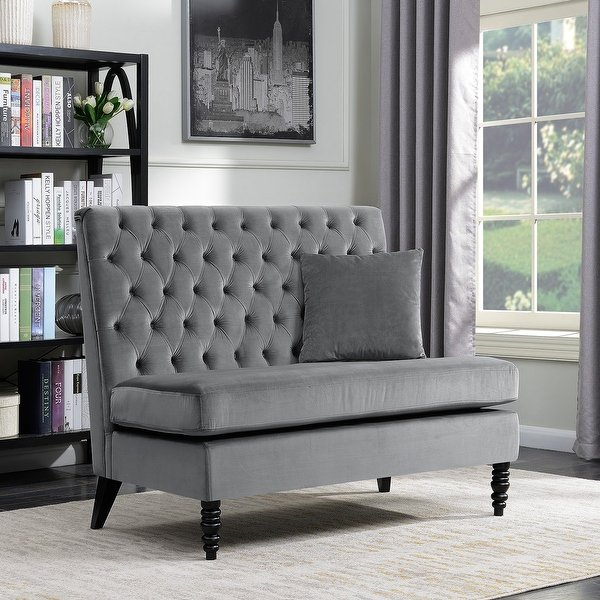 Shop Belleze Modern Button Tufted Style Settee Bedroom Bench