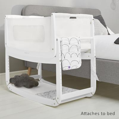 SnuzPod 3 Bedside Crib in White | Modern Baby Cots - Scandiborn USA