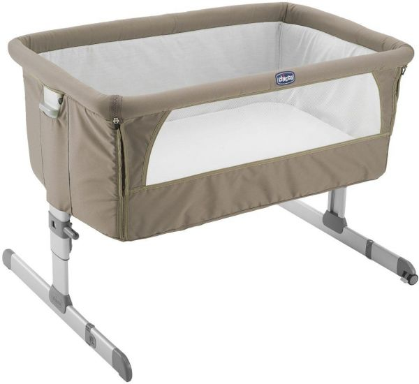 Chicco Next2Me Bedside Crib Dove Baby Play Yard - CH79339-72, Beige