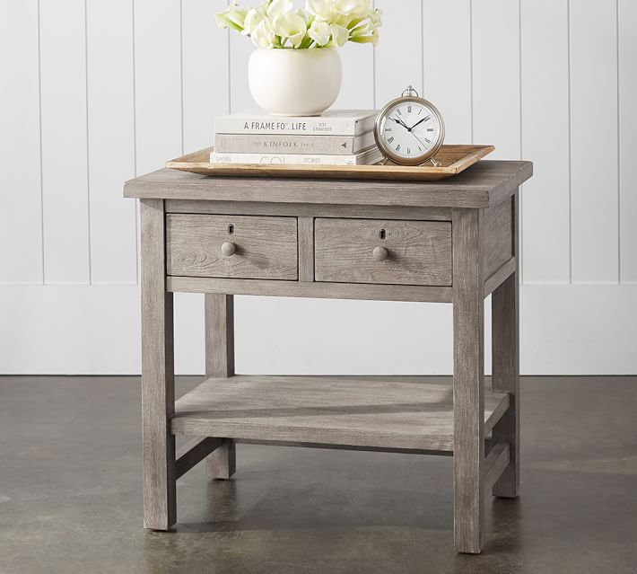 Farmhouse 2-Drawer Nightstand | Pottery Barn