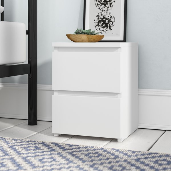 Wrought Studio Ordonez 2 Drawer Bedside Table & Reviews | Wayfair.co.uk