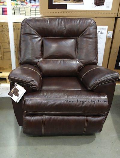 Comfy. Berkline Tullran Leather Rocker Recliner. #Costco