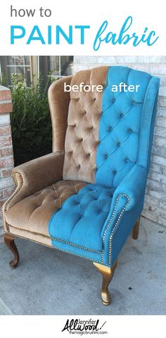 33 Best painted fabric chairs images | Armchair, Fabric Painting