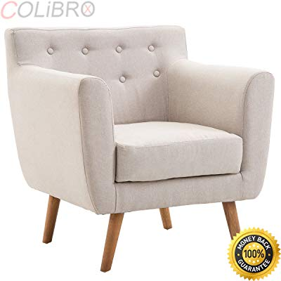 Amazon.com: COLIBROX--Arm Chair Tufted Back Fabric Upholstered