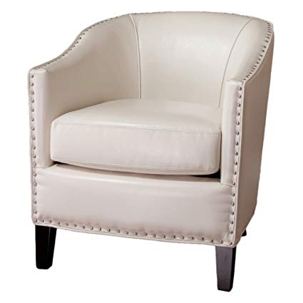 Amazon.com: Best Selling Studded Club Chair, White: Kitchen & Dining