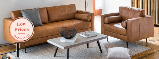 Leather sofas & armchairs | Structube