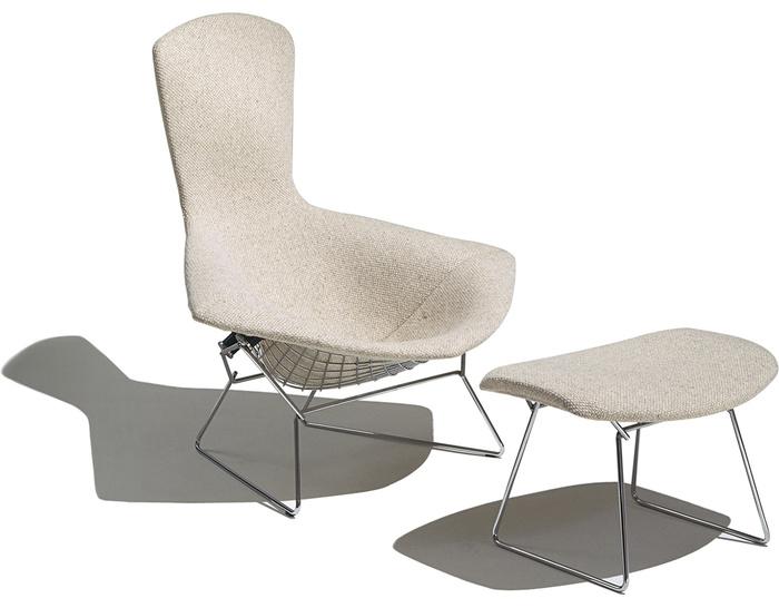 Bertoia Bird Chair & Ottoman - hivemodern.com