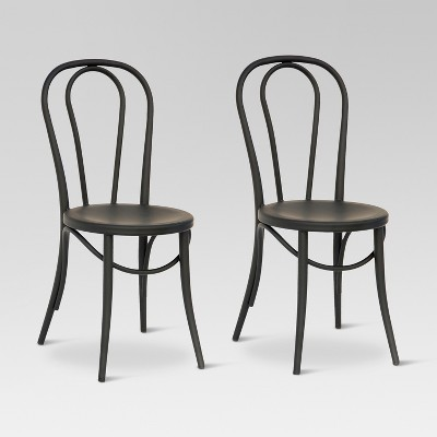 Emery Metal Bistro Chair - Matte Black (Set Of 2) - Threshold™ : Target