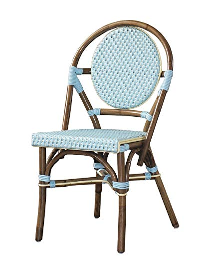 Amazon.com: Padma's Plantataion Paris Bistro Chair, Blue: Kitchen