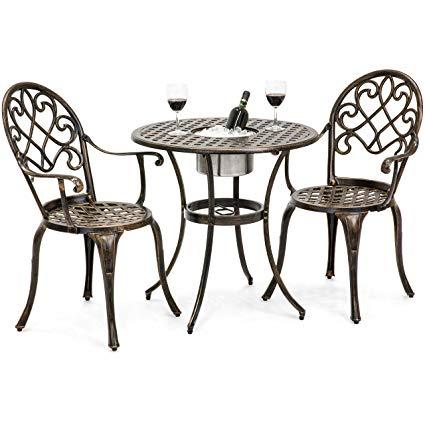 Amazon.com: Best Choice Products Cast Aluminum Patio Bistro Table