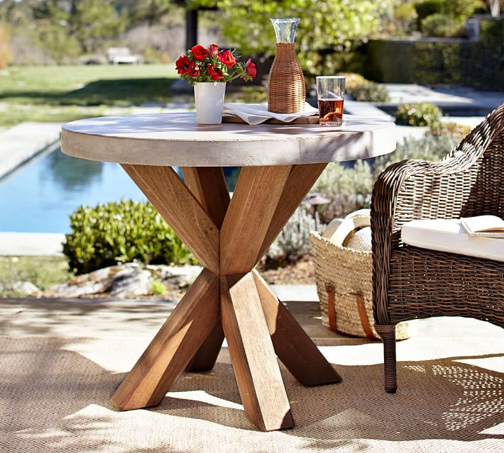Abbott Bistro Table, Brown | Pottery Barn