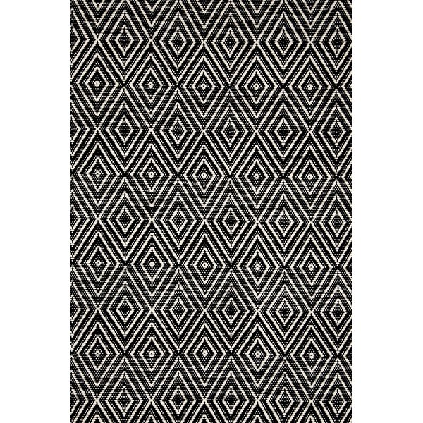 Dash and Albert Rugs Hand-Woven Black Indoor/Outdoor Area Rug