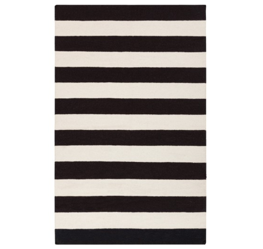 Get the Look: Black & White Stripe Rug | DREAM ROOM