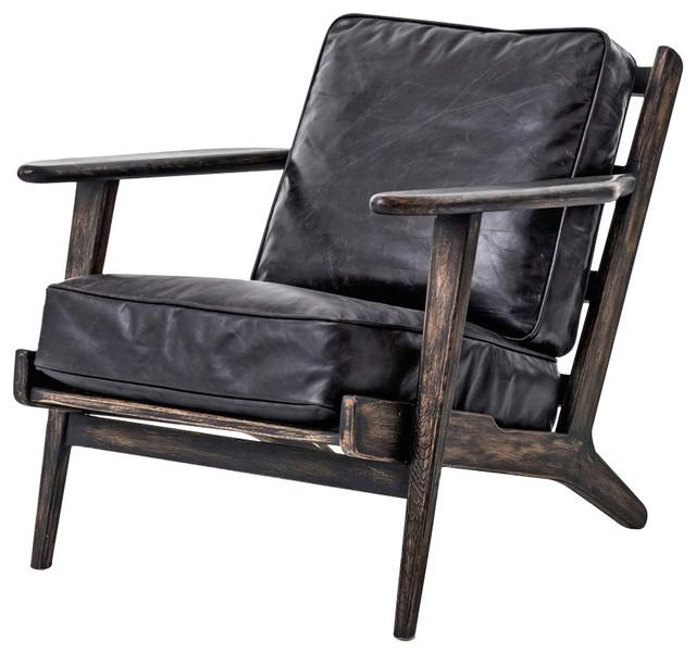 Rider Mid Century Modern Oak Armchair - Modern - Armchairs And