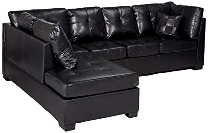 Amazon.com: Darie Sectional Sofa with Left-Side Chaise Black