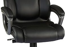 Staples Washburn Bonded Leather Office Chair, Black | Staples