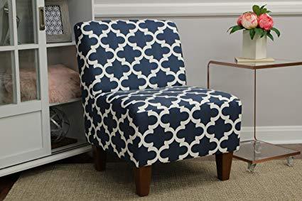 Amazon.com: Mainstays Amanda Armless Accent Chair (Navy Blue and