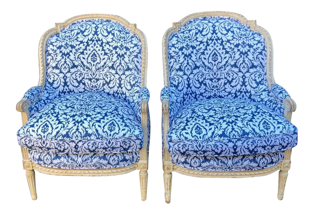 Vintage & Used Blue and White Accent Chairs for Sale | Chairish