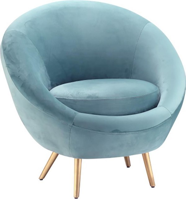 Dovetail Luka Light Blue Occasional Chair - Midcentury - Armchairs