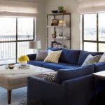 Blue sectional couch for modern living   rooms