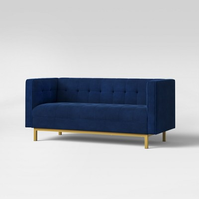 Cologne Tufted Track Arm Sofa - Blue - Project 62™ : Target