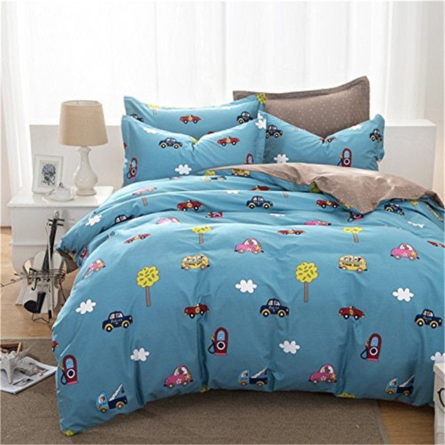 FADFAY Cotton Car Bedding Sets For Boys Duvet Cover Set Twin/Full