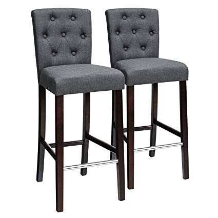 Amazon.com: SONGMICS Bar Stools Kitchen Breakfast Chairs, with