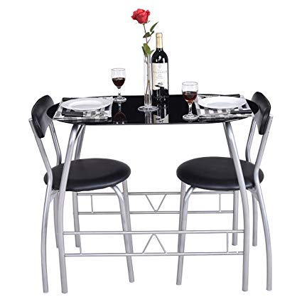 Amazon.com - Giantex 3 Piece Bistro Dining Set with Breakfast Chairs