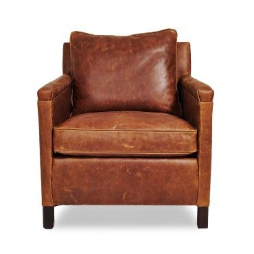 Irving Place Heston Leather Chair by ABC Home and Carpet in 2019