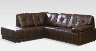 Maxim Corner LHF Brown - Leather Corner Sofas - All Sofas