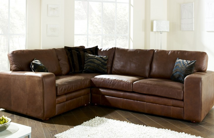 Abbey Leather Corner Settee | Leather Corner Sofas