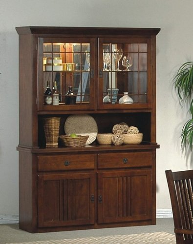 Amazon.com: Mission Style Solid Wood China Cabinet Buffet Hutch